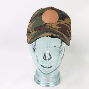 91004156b7c Chicago Cubs Leather Strapback Camo Baseball Hat